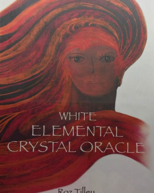 White Elemental Crystal Oracle card deck